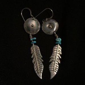 Jewelry - Silver and turquoise earrings- pierced style